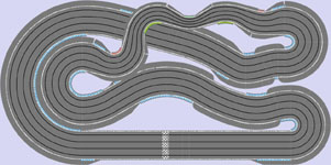 Routed four lane layout