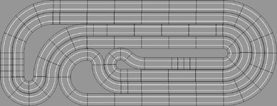 Nested Scalextric Track