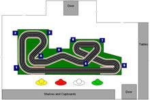 4 lane Ninco track