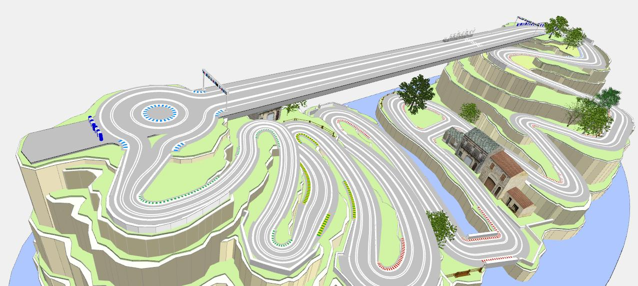 Sxr on Routed Slot Car Track Plans